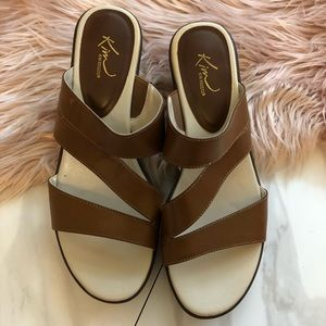 Kim Rogers leather sandals loafers size 9.5